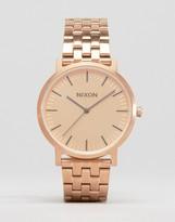 Nixon Porter Bracelet Watch In Rose Gold