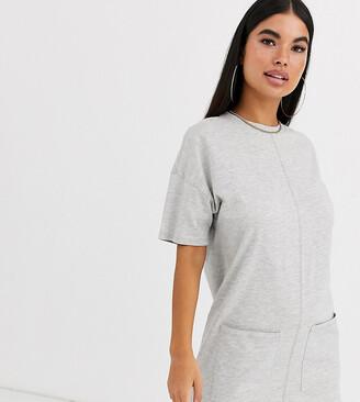 Asos DESIGN Petite cotton double pocket t-shirt dress