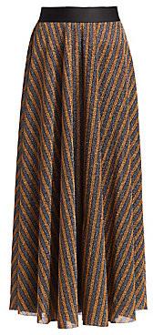 Rachel Comey Women's Portion Glitter Stripe Skirt