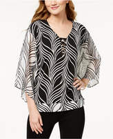 JM Collection Petite Ring-Detail Blouse, Created for Macy's