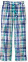 L.L. Bean Cotton Sleep Pants, Madras
