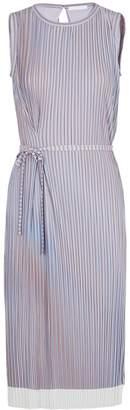 BOSS Lilac Striped Pleated Dress