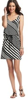 LOFT Domino Stripe Tank Dress