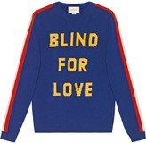 """Gucci Blind for Love"""" and tiger wool sweater"""