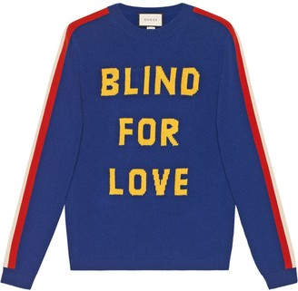 Gucci Blind for Love and tiger wool sweater