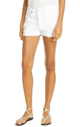 Frame Le Beau Distressed Cuffed Shorts