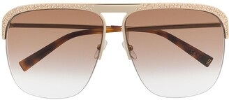 Givenchy Crystal-Embellished Aviator Sunglasses
