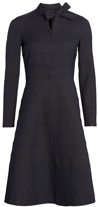 Teri Jon by Rickie Freeman Button-Down A-line Dress