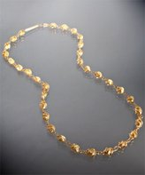 14k gold plated 'Cleon' twisted bead layering necklace