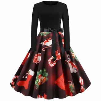 Firdon Women Christmas Dress Cocktail Plus Size Flower Girl Evening Prom Ball Gown Velvet A Line Dress Satin Night Dress