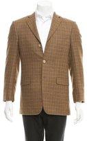 Burberry Wool Windowpane Blazer