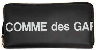 Comme des Garcons Wallets Black Huge Logo Continental Wallet