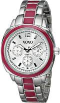 XOXO Women's Dial Tone and Enamel Bracelet Watch XO111