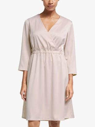 Y.A.S Line Wrap Neck Dress, Lilac