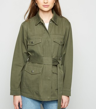 New Look Petite Belted Lightweight Jacket