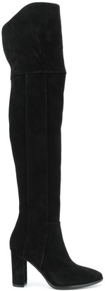 Pollini Round-Toe Over-The-Knee Boots