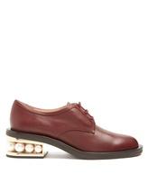 Nicholas Kirkwood Casati pearl-heeled leather derby shoes