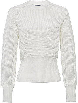 French Connection Luna Mozart Waffle Knit Cropped Jumper