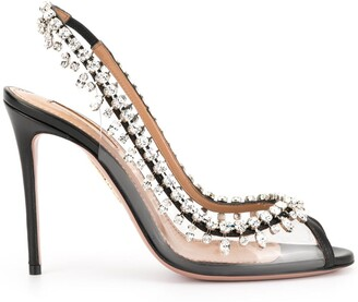 Aquazzura Crystal Embellished Sandals