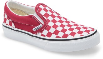 Vans Kids' Classic Checkerboard Slip-On Sneaker