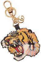 Gucci Embroidered Leather Keychain - Yellow