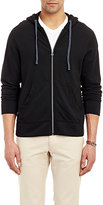 James Perse Men's Zip-Up Hoodie-BLACK