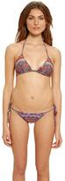 Mara Hoffman Swimwear Triangle Bikini in Rainbow Coral