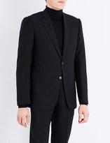 Armani Collezioni Academy-fit hopsack wool jacket