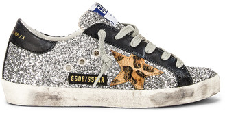 Golden Goose Superstar Sneaker in Silver, Beige Brown Leopard & Black | FWRD