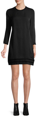 DSQUARED2 Pleated Hem Shift Dress