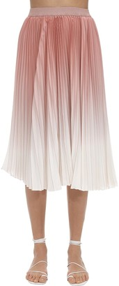 Agnona Pleated Degrade Skirt