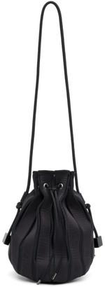 Issey Miyake Black Linear Knit Shoulder Bag