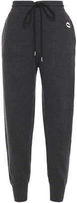 Markus Lupfer Cropped Embroidered Merino Wool Track Pants