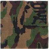 Moschino camouflage logo scarf