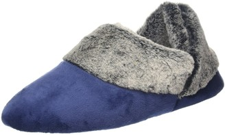Dearfoams Women's Velour Bootiew/Frosted Pile Cuff Low-Top Slippers