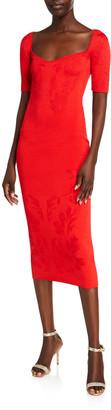 Cushnie Floral Jacquard Bodycon Dress