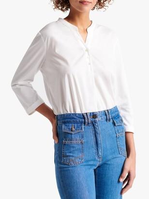 Gerard Darel Jazz V-Neck Button T-Shirt, Ecru