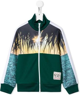 No21 Kids Colour-Block Zip-Up Jacket