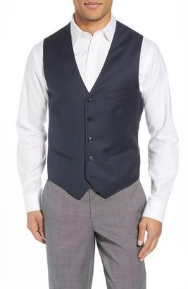 Ted Baker Troy Slim Fit Solid Wool Vest