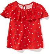 Old Navy Printed Ruffle-Trim Top for Toddler Girls