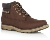 Caterpillar Dark Brown Leather Lace Up Boots