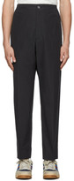 Gucci Black Cotton Poplin Logo Trousers