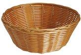 JVL Polyrattan Weaved Dishwasher Safe Basket, Round - 23 x 8 cm