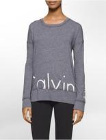 Calvin Klein Performance Oversized Logo Long-Sleeve Top
