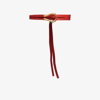Bottega Veneta Red Double Strap Leather Belt