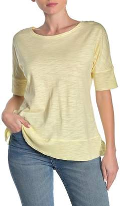 Workshop Heathered Dolman Elbow Sleeve Slub T-Shirt