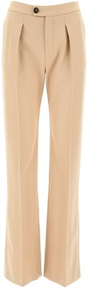 Chloé High Rise Flared Palazzo Pants
