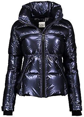 SAM. Women's Freestyle Metallic Down Nylon Puffer Jacket