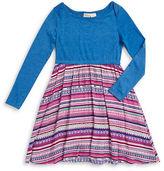 Roxy Girls 7-16 Popover Mixed Media Dress