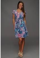 Rebecca Taylor Aurora Tie Waist Dress (Teal) - Apparel